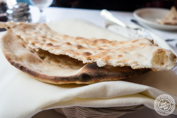 Barbari bread at Pars Grill House and Bar in NYC, New York
