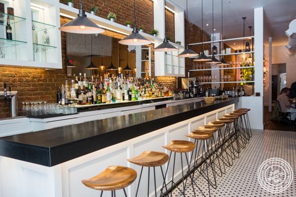 Bar area at Gran Morsi, Italian restaurant in TriBeCa, NYC