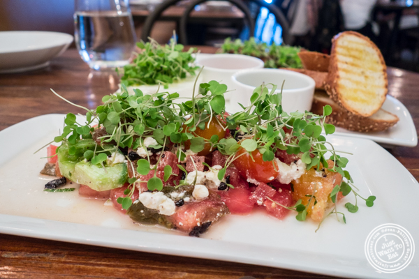 Watermelon salad at Gran Morsi, Italian restaurant in TriBeCa, NYC