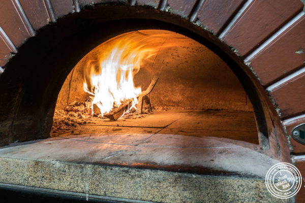 Wood fire oven at Bruno Pizza in the East Village