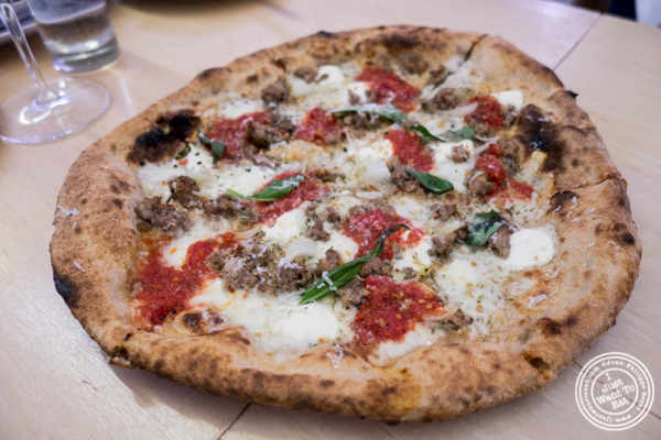 Meatball pizza at Bruno Pizza in the East Village
