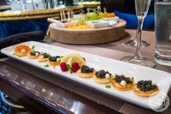 Caviar tasting at Olma Caviar Boutique & Lounge on the Upper West Side, NYC
