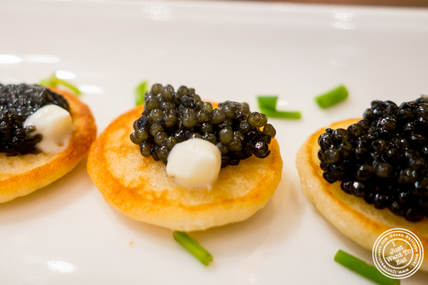 Paddlefish caviar at Olma Caviar Boutique &Lounge on the Upper West Side, NYC