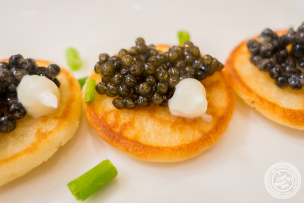 Osetra Karat caviar at Olma Caviar Boutique & Lounge on the Upper West Side, NYC