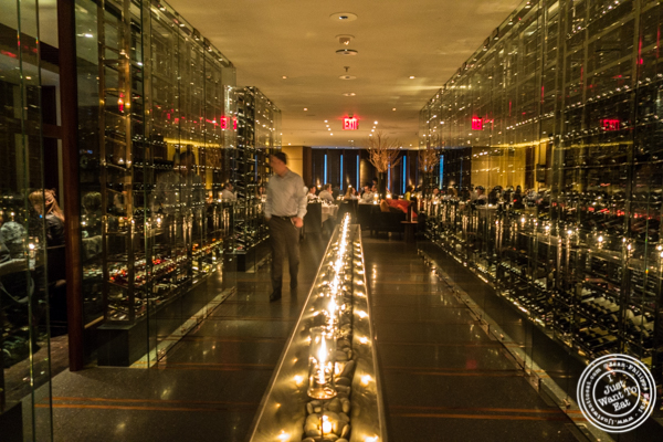 Wine cellar at Reserve Cut at The Setai in the Financial District, NY