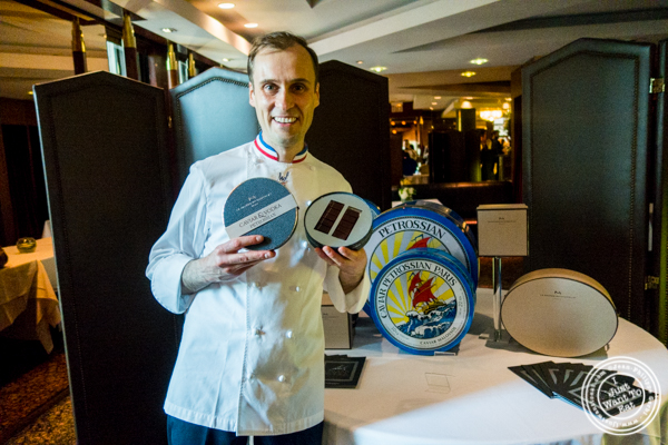 Caviar and chocolate an association from petrossian and for La maison nicolas