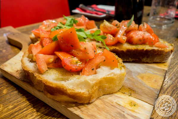 Bruschetta al pomodoro at Romagna Ready 2 Go in Greenwich Village, NYC