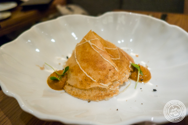 Dosa with mushroom at Indian Accent at The Parker Meridien, NYC