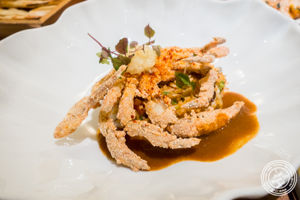 Soft-shell crab at Indian Accent at The Parker Meridien, NYC