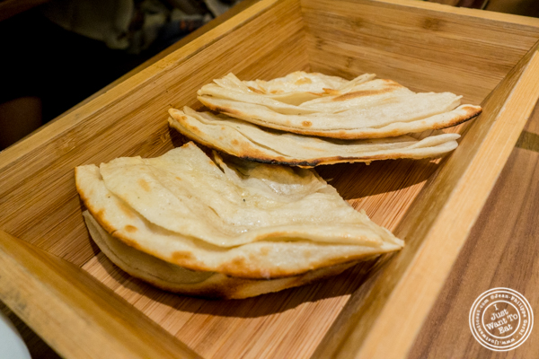 Butter naan at Indian Accent at The Parker Meridien, NYC