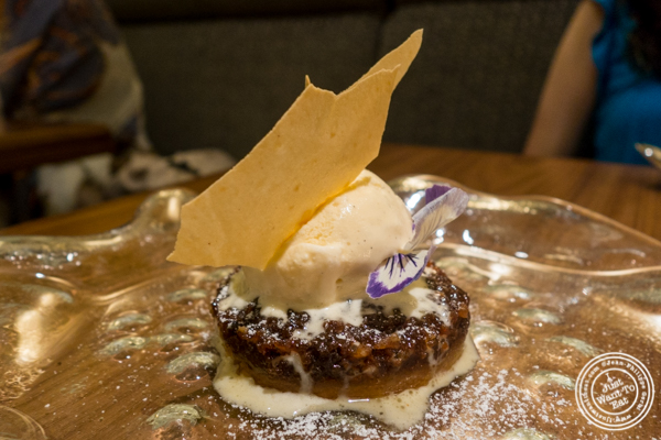 Doda barfi    treacle tart  at Indian Accent at The Parker Meridien, NYC
