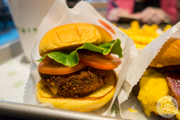 'Shroom burger at Shake Shack on 36th street in Manhattan