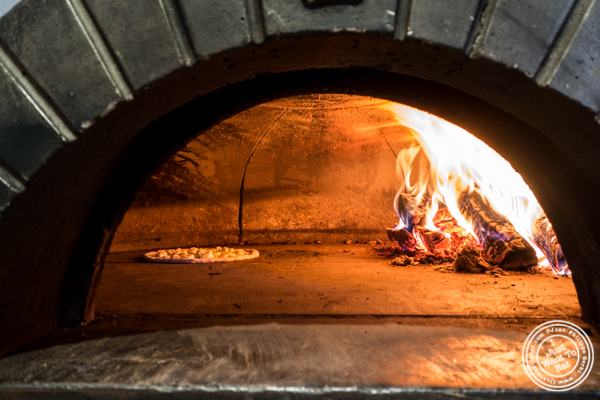 Wood fire oven at Tutti Matti in Long Island City, Queens