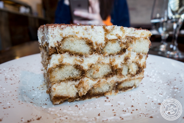 Tiramisu at Tutti Matti in Long Island City, Queens