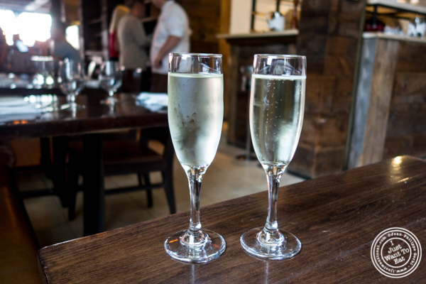 Prosecco at Tutti Matti in Long Island City, Queens