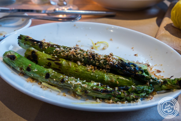 Roasted asparagus at Bread in Lolita, NYC