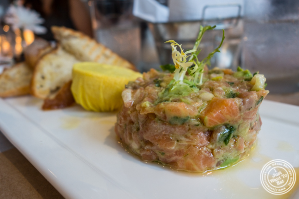 Salmon tartare at Bread in Lolita, NYC
