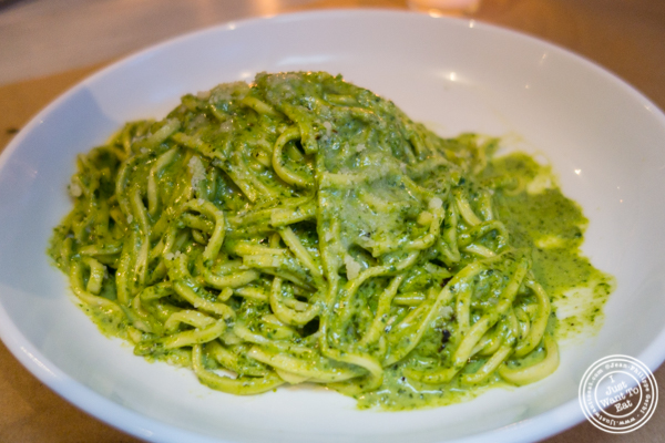 Taglioni al pesto at Bread in Lolita, NYC