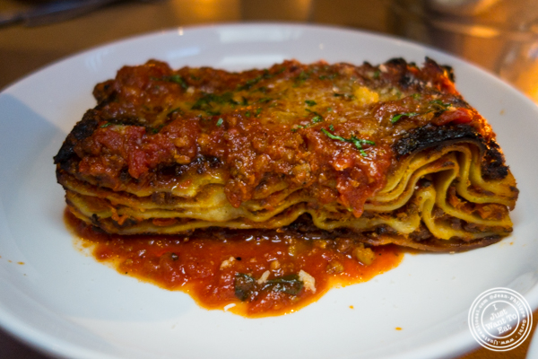 Lasagna at Bread in Lolita, NYC