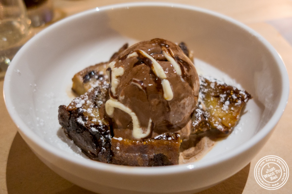 Bread pudding at Bread in Lolita, NYC