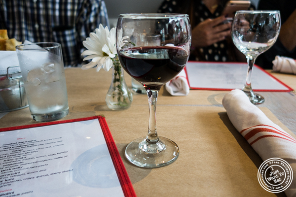 Glass of Montepulciano at Bread in Lolita, NYC
