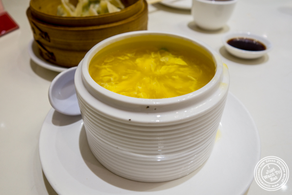 Egg drop soup at Bite of Hong Kong in Chinatown, NYC