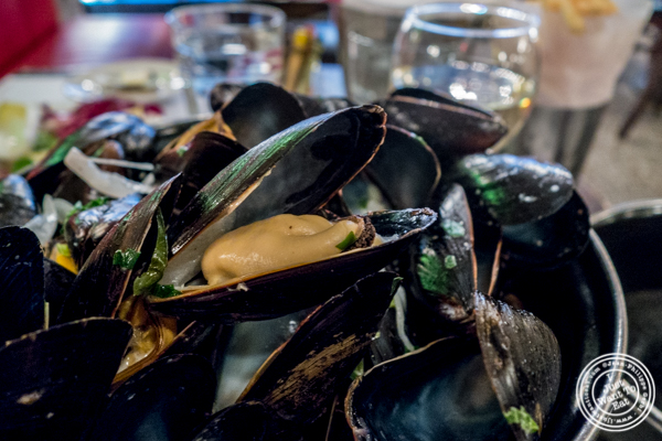 Moules frites at Cafe 123 in Times Square, NYC