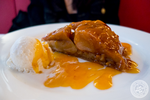 Tarte tatin at Cafe 123 in Times Square, NYC