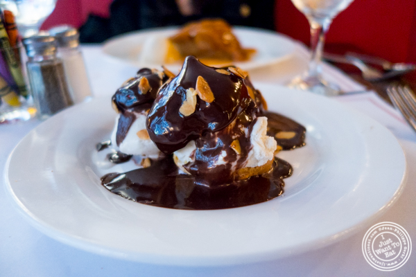 Profiteroles at Cafe 123 in Times Square, NYC