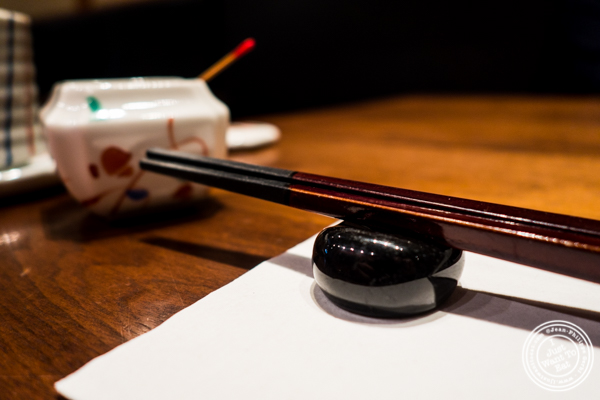 Chop sticks at Ootoya Times Square, NYC, New York