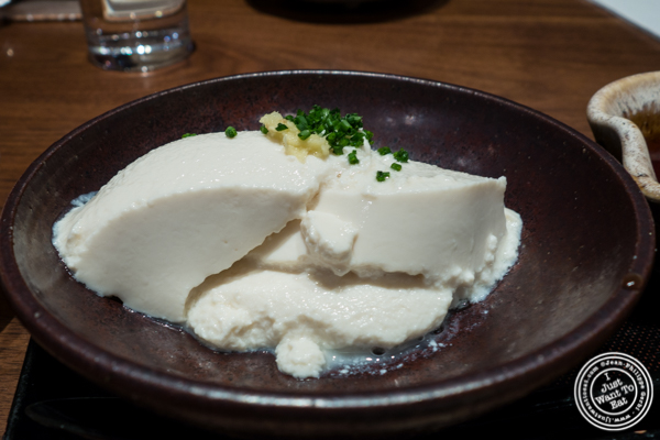 House made tofu at Ootoya Times Square, NYC, New York