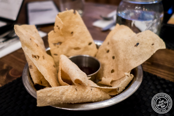 Papadum at Kokum in Curry Hill, NYC