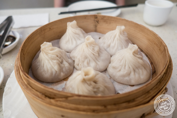 Pork soup dumplings at Flaming Kitchen in Chinatown, NYC