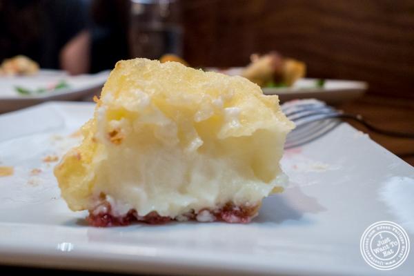 Tempura cheesecake at Natsumi Tapas in NYC, NY