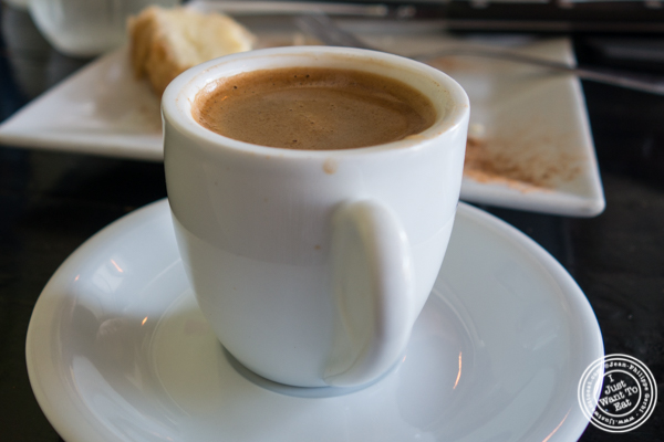 Coffee made in a briki at Avlee Greek Kitchen in Brooklyn, NY