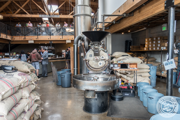 Roasting machine at Sightglass Coffee in San Francisco, CA