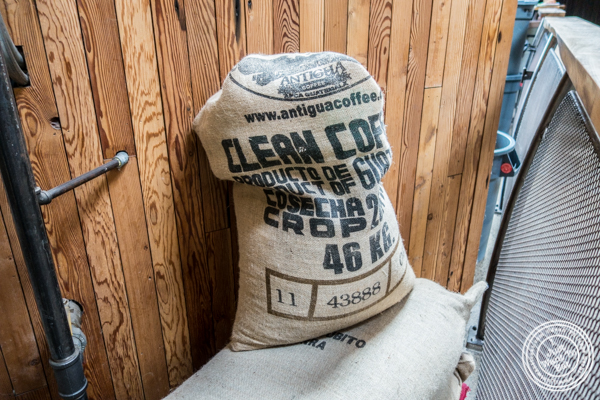 Coffee beans bag at Sightglass Coffee in San Francisco, CA
