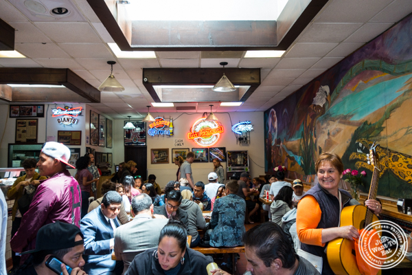 Dining room at La Taqueria in San Francisco, CA
