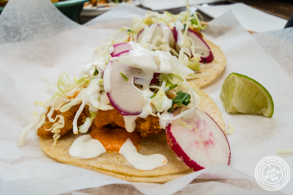 Fish taco at La Cholita Linda in Oakland, CA