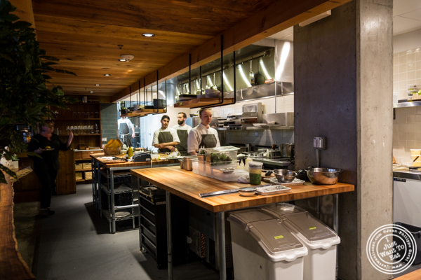 Open kitchen at The Perennial in San Francisco, CA