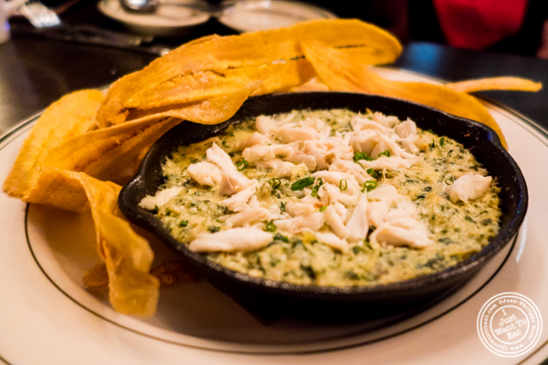 Crab and artichoke dip at The Malt House FiDi in NYC, NY