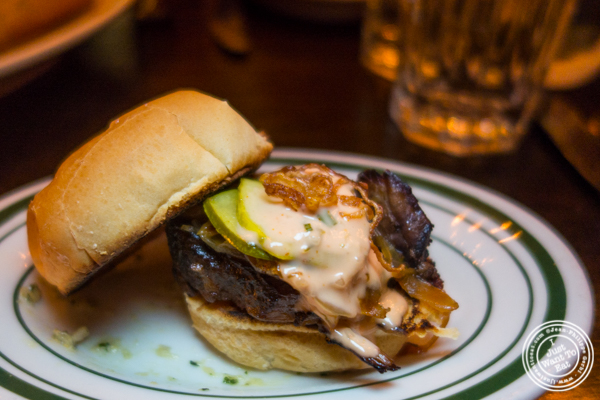 Slow braised short rib slider at The Malt House FiDi in NYC, NY