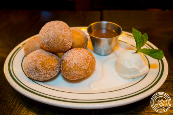 Homemade donuts at The Malt House FiDi in NYC, NY