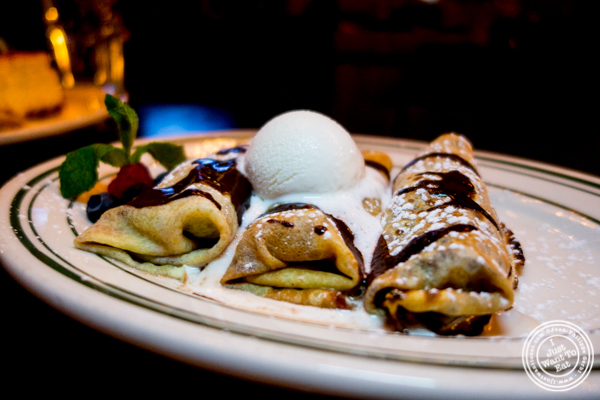 Banana and chocolate crepes at The Malt House FiDi in NYC, NY