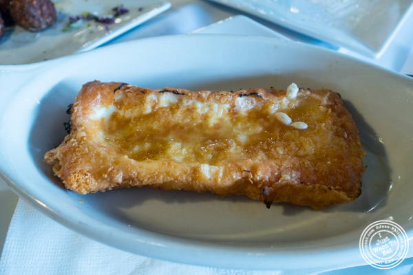Saganaki at Jimbo's, Greek Restaurant and Bar in Astoria, Queens