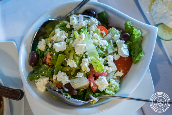 Greek salad or Elliniki at Jimbo's, Greek Restaurant and Bar in Astoria, Queens