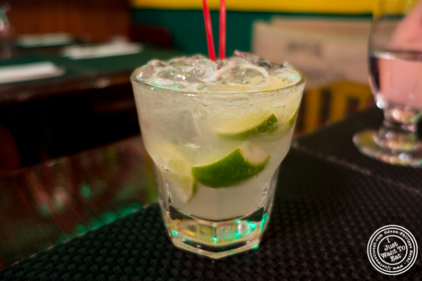caipirinha at Rice 'n' Beans in Hell's Kitchen, NYC, NY