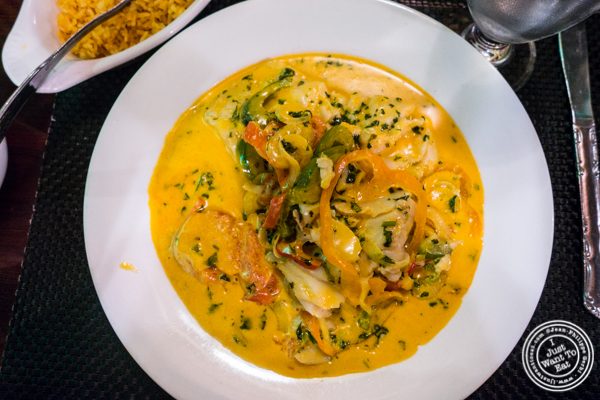 Moqueca de peixe at Rice 'n' Beans in Hell's Kitchen, NYC, NY