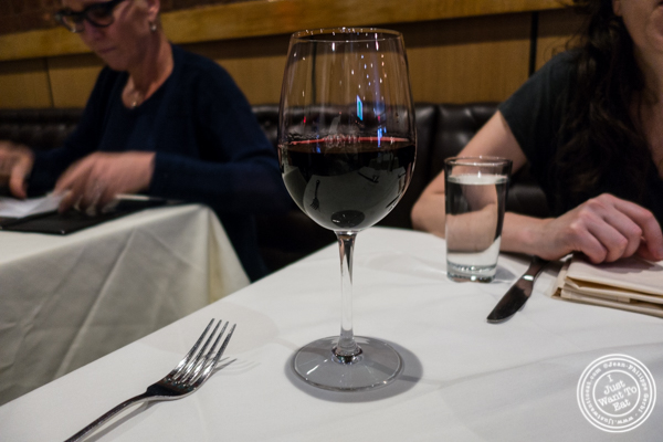 Glass of Pinot Noir, Etude Lyric 2014 at K Rico, South American Steakhouse in NYC, NY