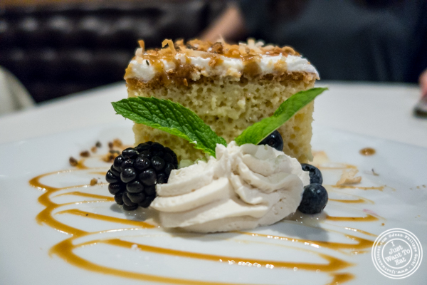 Tres leches at K Rico, South American Steakhouse in NYC, NY
